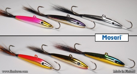 Mosari Kouru ice fishing lures.