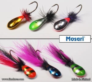 Mosari Rautu and Mosari Välke ice fishing lures