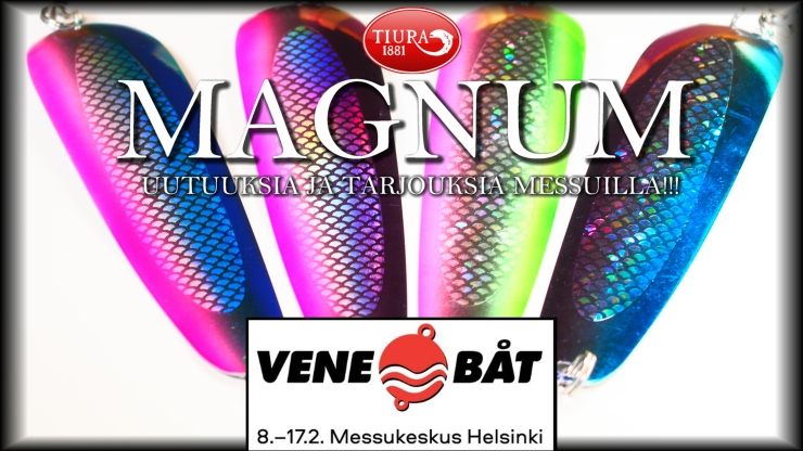 Tiura Magnum is famous Finnish trolloing spoon for big salmon. Available in several colors. #tiura #tiurauistin #salmon #lohi #uistelu #trolling